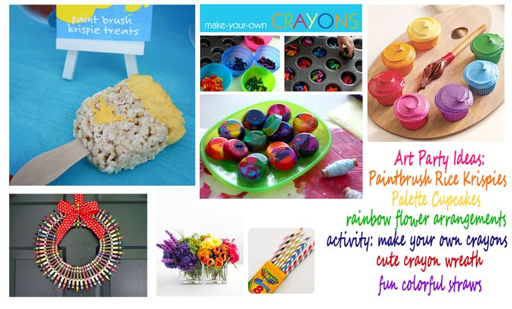 art themed birthday parties | ... art party board here: MORE ART PARTY IDEAS there are more fun