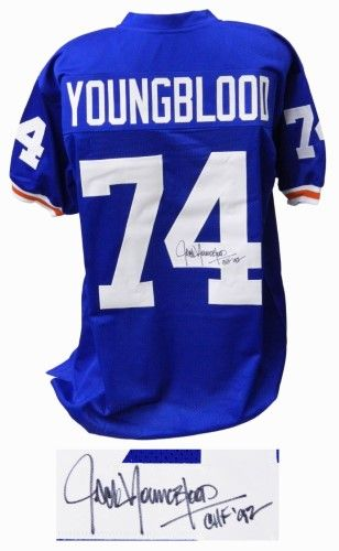 best sneakers 31685 f549c Jack Youngblood Signed Blue T/B Custom College Football ...
