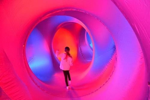 Inside a luminarium
