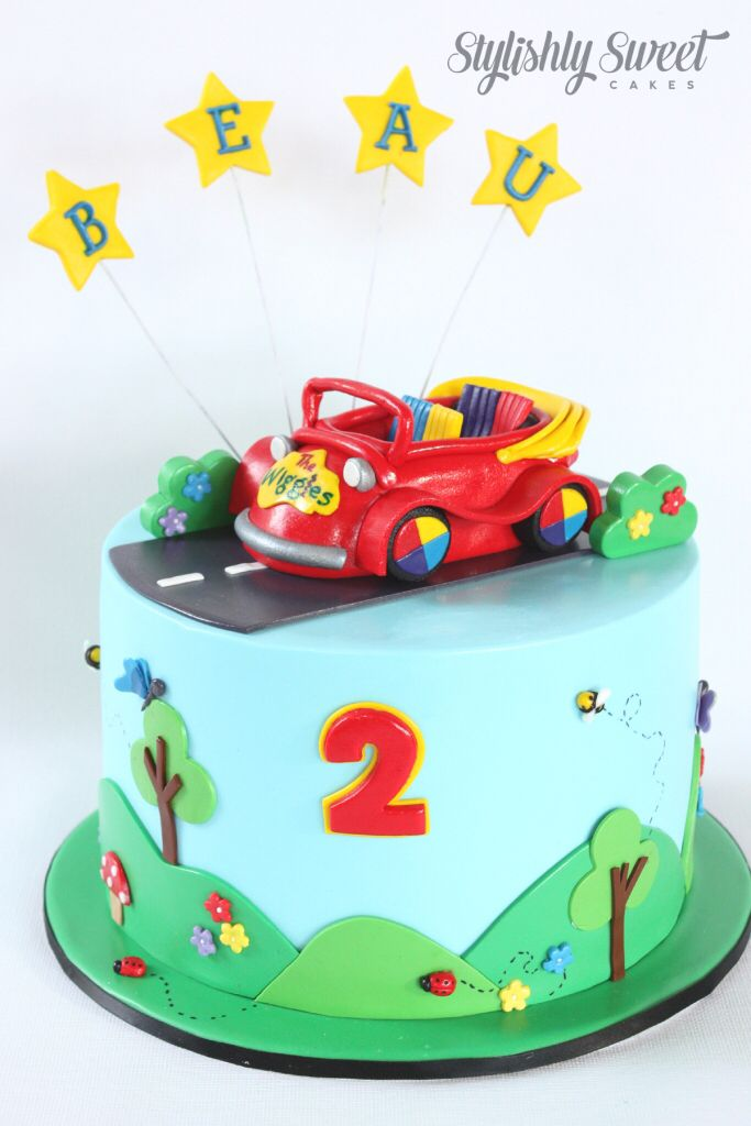 Wiggles big red car birthday cake www.stylishlysweet.com.au