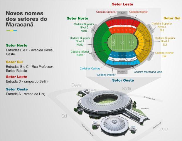 SRZD | Estádio do Maracanã ganha novas nomenclaturas | Notícia | Esportes