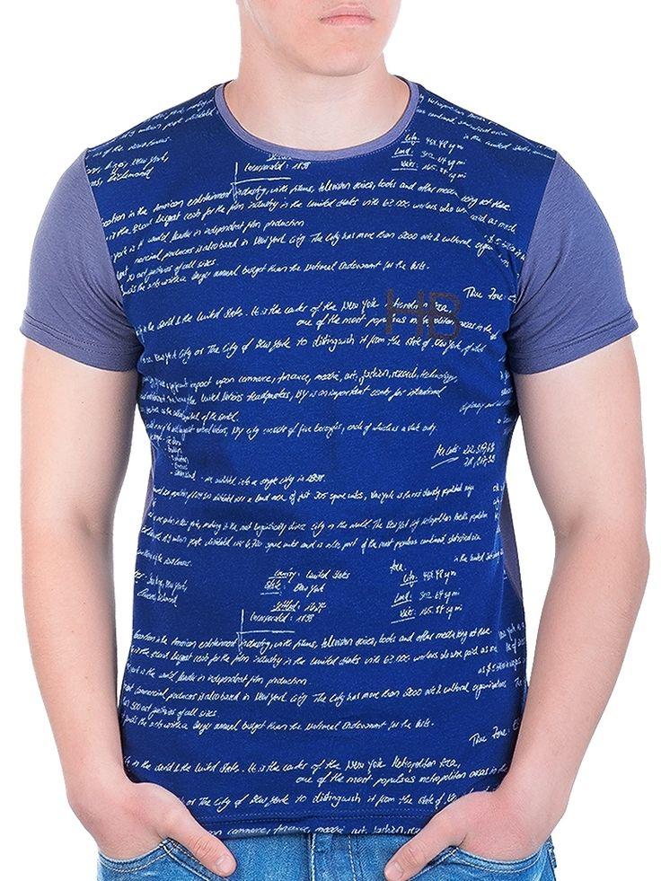 Тъмносива мъжка тениска със сублимация HB #DressPlace #Teniski