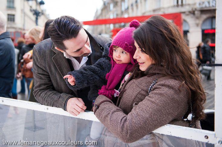 Séance photo en famille au Marché de Noël de Lille