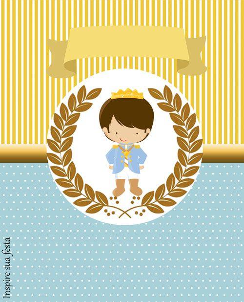 Bisnaga de brigadeiro Rei Azul e Dourado