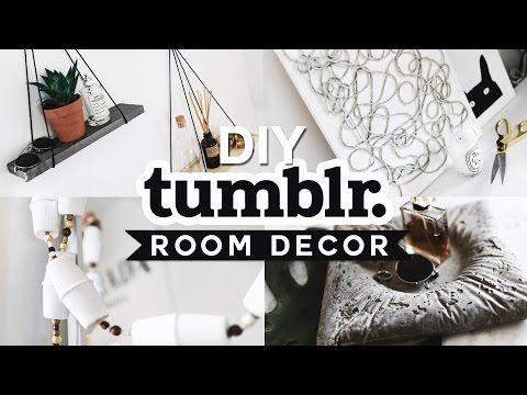 DIY Tumblr Inspired Room Decor 💡✂️ 🔨 (2016) - Minimal & Easy // Imdrewscott - YouTube