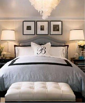 BedroomGuest Room, Grey Bedrooms, Beds, Bedrooms Design, Monograms Pillows, Master Bedrooms, Hollywood Regency, Masterbedrooms, Bedrooms Ideas
