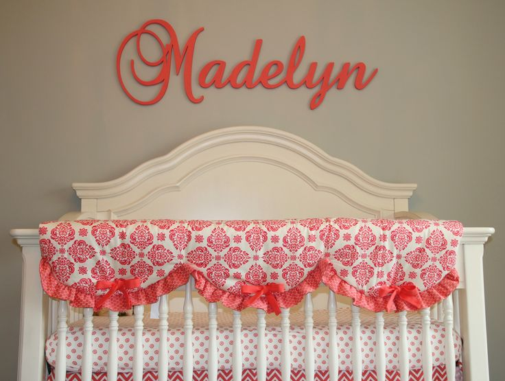 Madelyn's Coral and Aqua Traditional Nursery