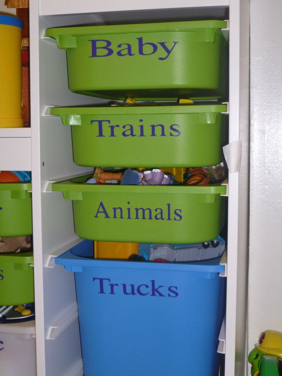 Could Use With Plastic Bins Use Size Number Stickers From
