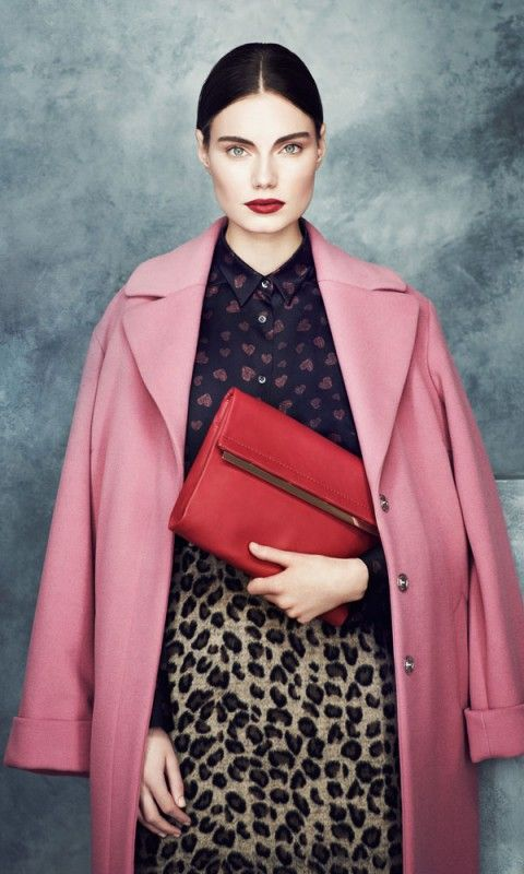 Marks and Spencer pink coat - Marks and Spencer Autumn Winter 2013 Collection | Mobile ~ Wonderful color & pattern combo