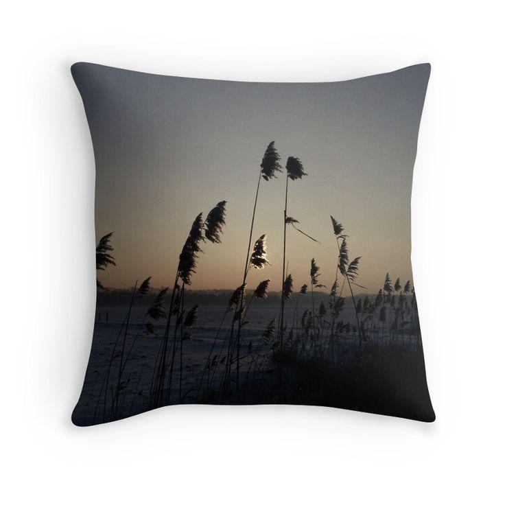 A golden edge sunset pillow on  #REDBUBBLE