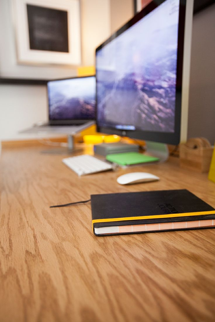 The desk surface is made with sheets of red oak veneered plywood purchased  at @Home
