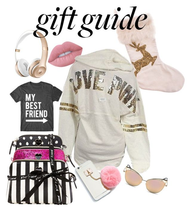 """""""My Best Friend is better than yours! #Besties"""" by erinjnolan on Polyvore featuring Lime Crime, Victoria's Secret, Betsey Johnson and Beats by Dr. Dre"""