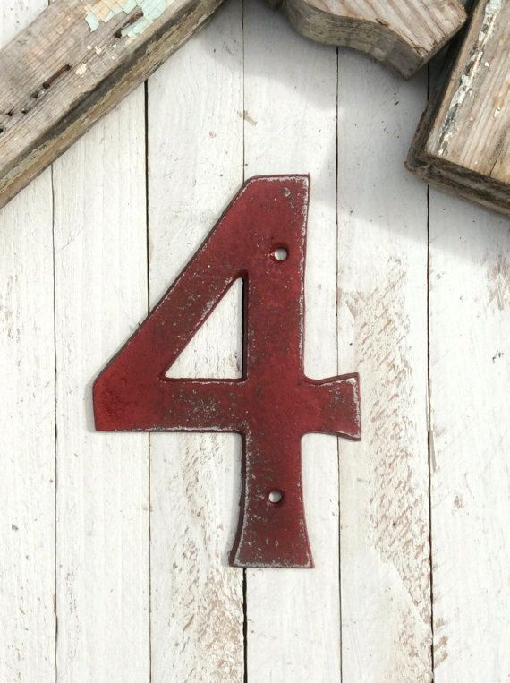 Island style house numbers