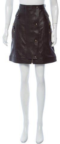 Gianni Versace Leather A-Line Skirt