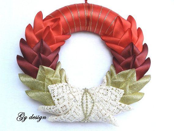 Christmas wreath red wreath holidays wreath door wreath by Gydesi