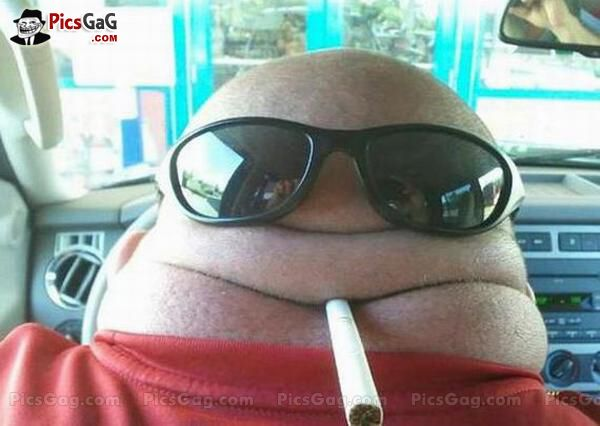 Fat Head Funny [ More Fat Man Pics: http://www.picsgag.com ...