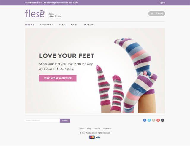 Det er et template som egner sig godt til en webshop med få produkter. Fx hvis du designer og producerer tøj og du gerne vil sælge online. Selv om templated er simpelt kan du tilføje dropdown menuer og der er et utal af tilpasningsmuligheder som du redigere uden kendskab til kodning eller webdesign.