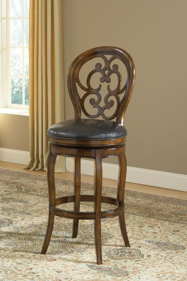 brown wooden swivel bar stools with curvy backs and round black  inside wooden swivel bar stools with backs At Melbourne