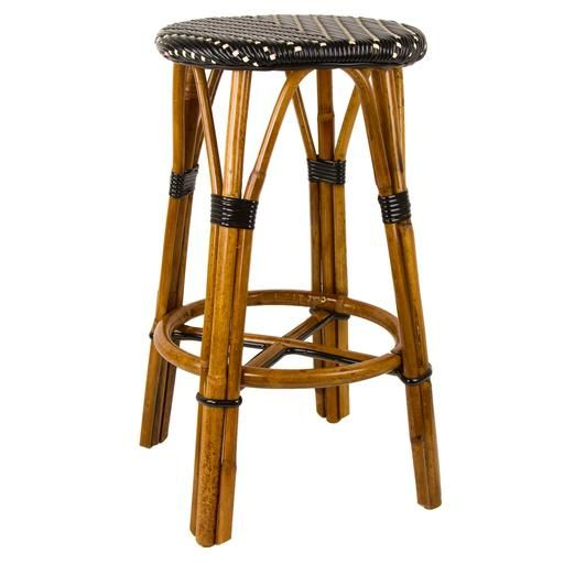 Chair Stool Black Shabby Chic Covers Target Cream Counter Height Mediterranean Bistro Bar 26 H L