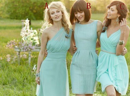 Pas cher demoiselle d'honneur de lumière bleu robe, robe de demoiselle d'honneur courte, robes de demoiselle d'honneur, robe de mariée sur Etsy, 85,65€