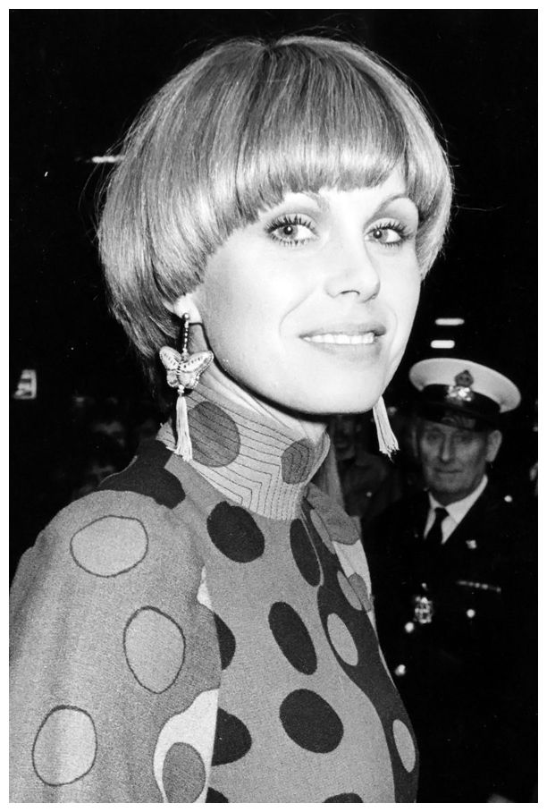 Joanna Lumely – The Purdey cut, as named after Lumley's character in The Avengers, became one of the Seventies' most popular styles