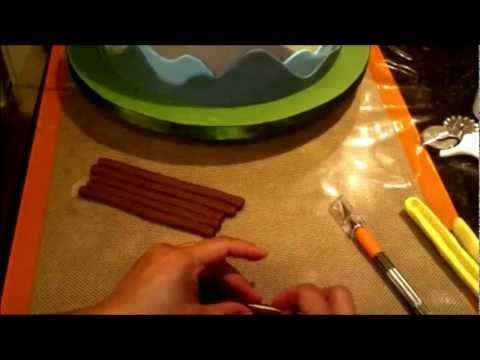 How to Make a Small Log Cabin Cake Tier Part 1