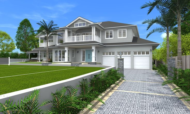 Hamptons Style Home St Ives- Home renovation concept in 3D designed by All Australian Architecture