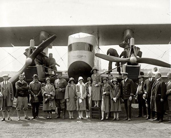 """1925 год. Крещение самолета Сикорского """"Yorktown"""" самолет, сикорский, ретро, Фото, Интересное"""