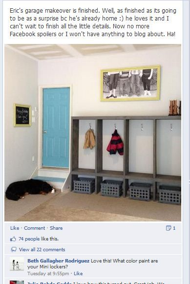 """Perfect! garage """"lockers"""". I think this would be Tim's dream garage look. I'd have to get a dumpster and get busy pitching first."""