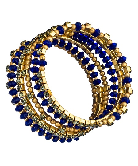 Royal Blue Spiral Beaded Princess Bracelet