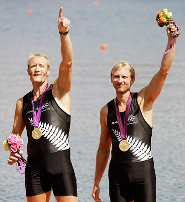 Rowing men's pairs Gold: New Zealand Eric Murray, left, & Hamish Bond