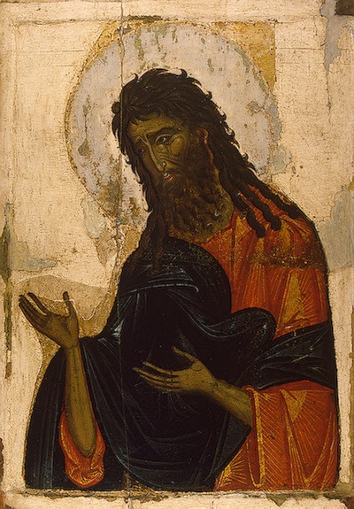 Icon of the St. John the Baptist, late 13th - early 14th century