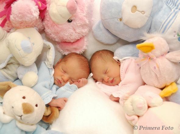 Fotos de bebés, mellizos