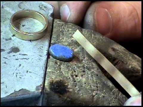 The Goldsmith : Part 2. Making a boulder opal ring - Anello con opale, tutorial parte 2