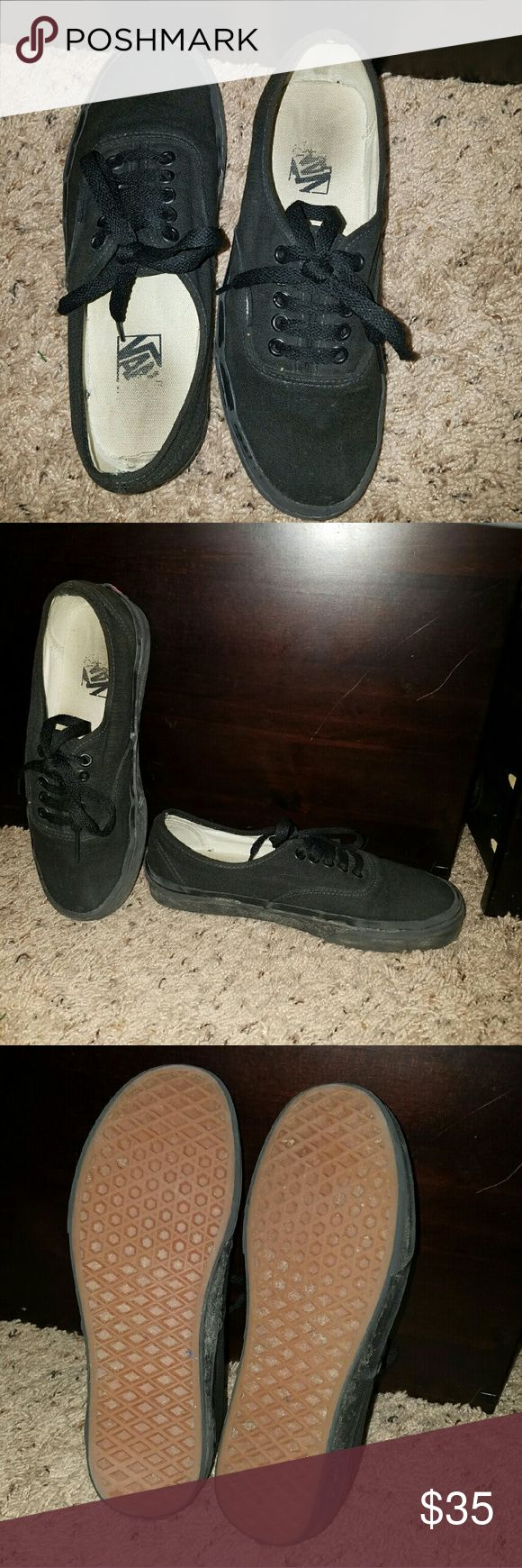 Vans skate shoes Black vans. Little tried mud on the sides but will be scrubbed before shipping Vans Shoes