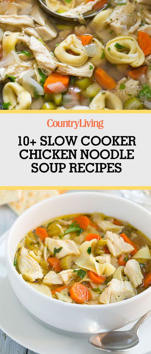 Sit back, relax, and let your slow cooker do all the work with these simple and tasty chicken noodle soup recipes. Here you'll find recipes featuring inspired ingredients like dumplings, zucchini, zoodles, chipotle, black beans, salsa, and more.