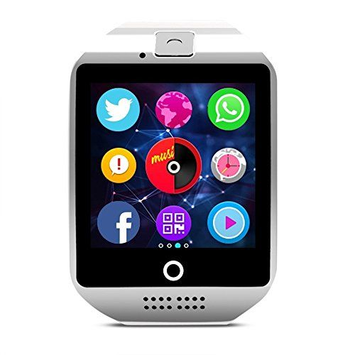Smart Watch with Touch Screen Camera TF Card Bluetooth Smartwatch for Android IOS Phone   Function: Passometer,Sleep Tracker,Message Reminder,Call Reminder,World Time,Compass,Dial Call,Answer Call,Remote Control,Push Message,Alarm Clock,Week,Fitn