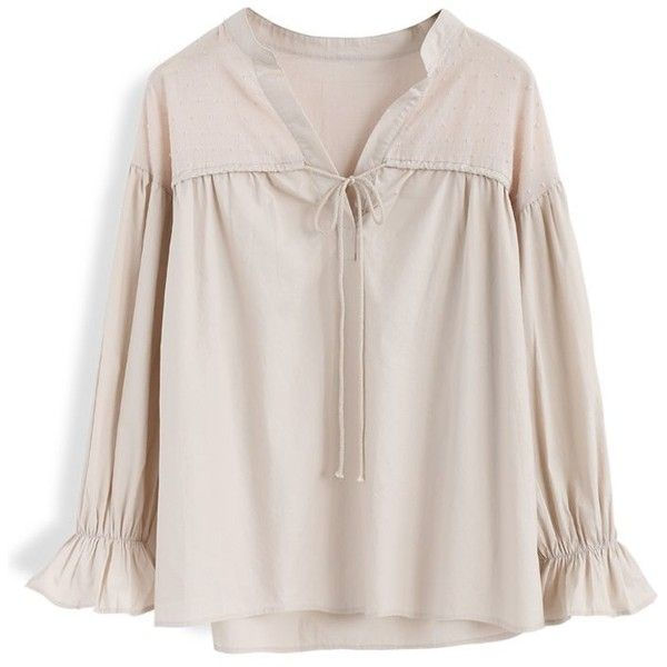 Chicwish Leisure Code Smock Top in Nude ($37) ❤ liked on Polyvore featuring tops, pink, pink slip, pink top, chicwish tops, smocked top and smock top