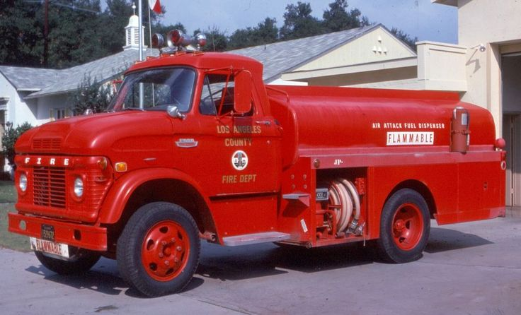 LOS ANGELES COUNTY, CA 1968 FORD N AIR ATTACK FUEL TANKER SLIDE