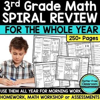 3rd Grade Math Spiral Review | 3rd Grade Morning Work WHOL