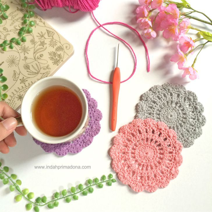 Crochet Wheel Coaster Pattern