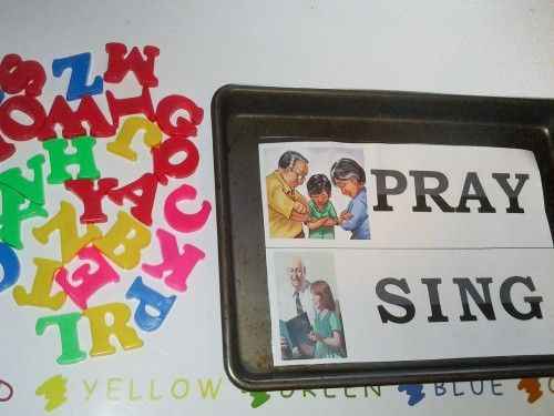 General Conference Activities Magnetic Letter Match for preschoolers #ldsconf