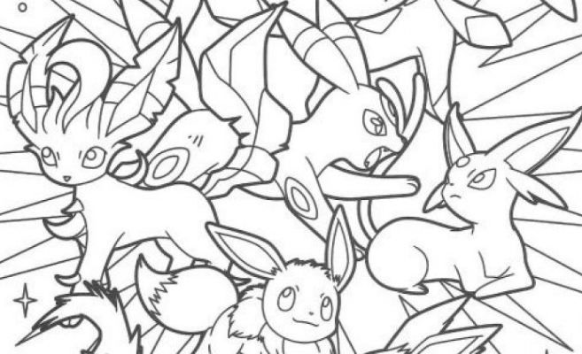 Best Pokemon Eevee Evolutions Coloring Pages Pokemon Eevee Evolutions Pokemon Eevee Coloring Pages
