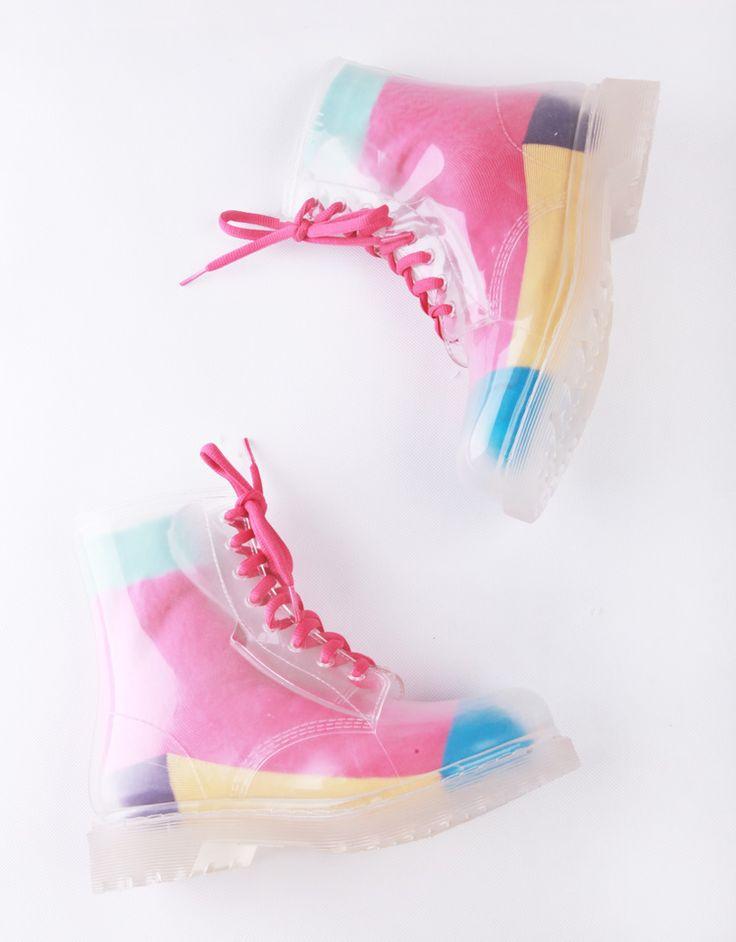 Japão cor Martin botas sapatos de água. Mulheres antiderrapante galochas, Botas de chuva, Colorido cadarço e meias em Botas de Sapatos no AliExpress.com | Alibaba Group
