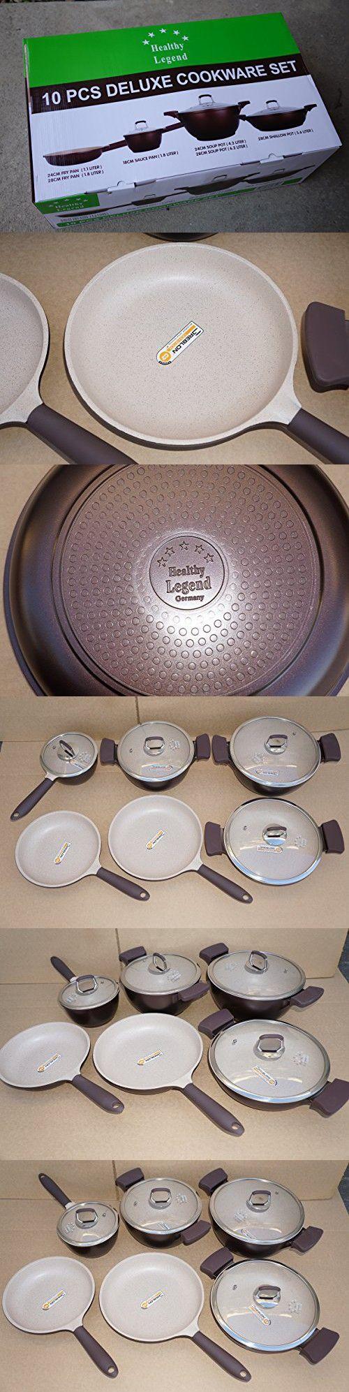 Third Generation Healthy Legend 10 pcs Set Non-stick German Weilburger Ceramic Coating Cookware Set - Eco Friendly, Non-toxic