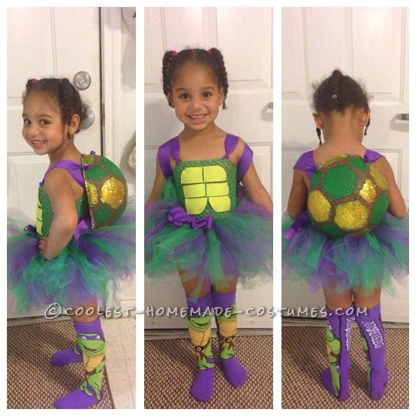 Cute Ninja Turtle Girl Costume... Coolest Halloween Costume Contest