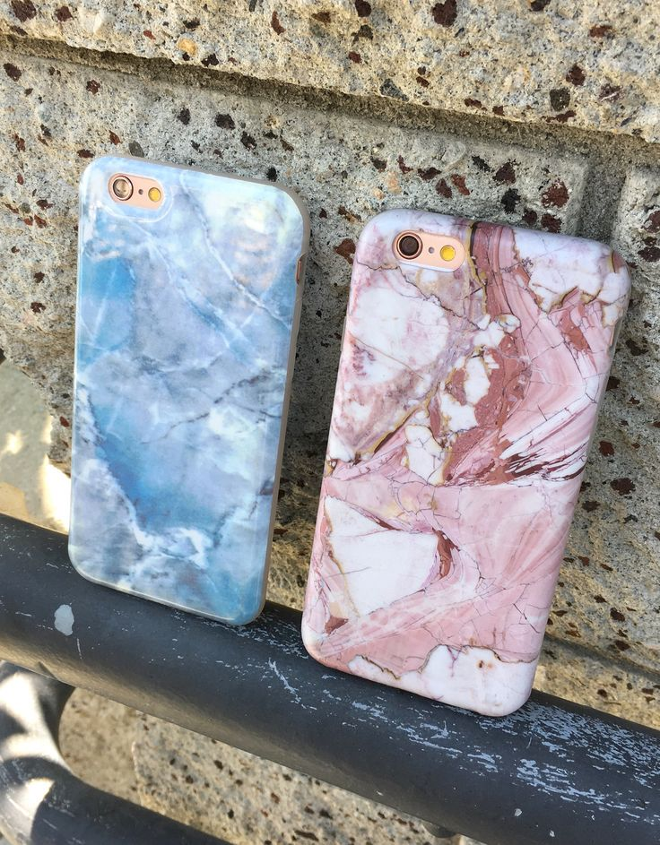Hampton Blue or Rose Marble Case. Available for iPhone 6/6s and 6 Plus/6s Plus from Elemental Cases