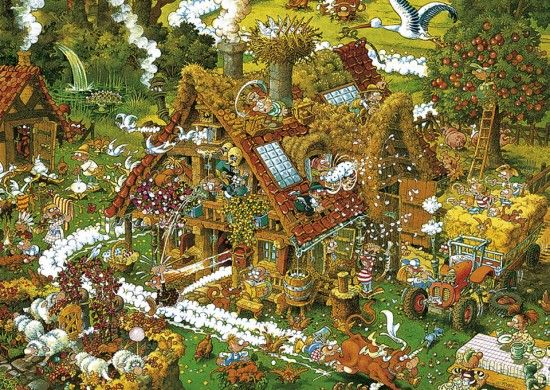 FUNNY FARM No. of pieces: 1500 Size: 80 x 60 cm Artist: Michael Ryba