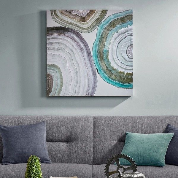 Madison Park Natural Geo Canvas Wall Art 34 185 Huf Liked On Polyvore Featuring Home Home Decor Wall Art Gree Canvas Wall Art Wall Art Abstract Wall Art