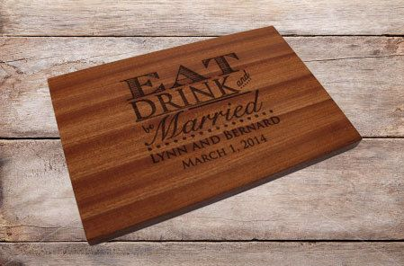 Personalized Cutting Board Wood Cutting by EverythingDecorated, $34.99